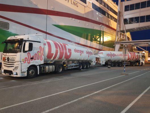 Elenger started LNG bunkering in the port of Helsinki